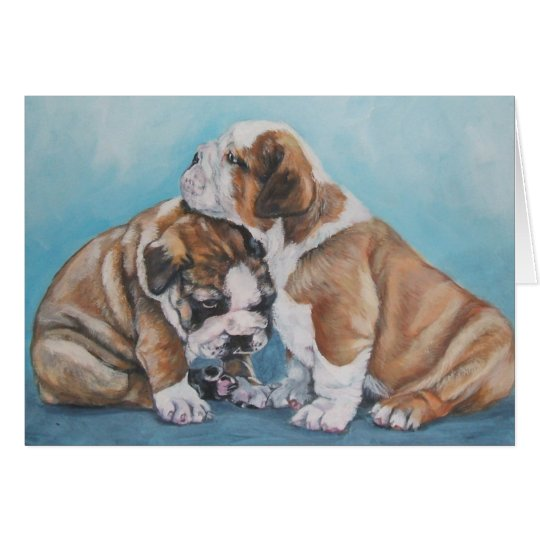 English Bulldog Christmas Card