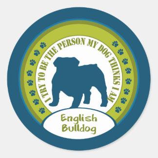 English Bulldog Classic Round Sticker
