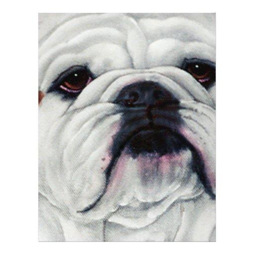 English Bulldog Close and Personal Custom Flyer