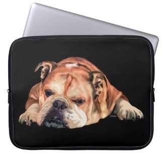 English Bulldog Computer Sleeve