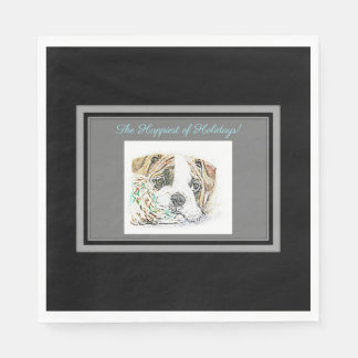 English Bulldog Disposable Napkins