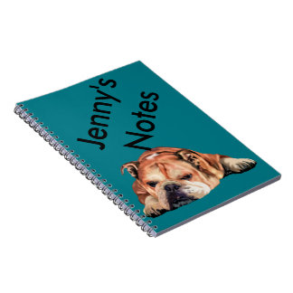 English Bulldog Dog Spiral Note Books