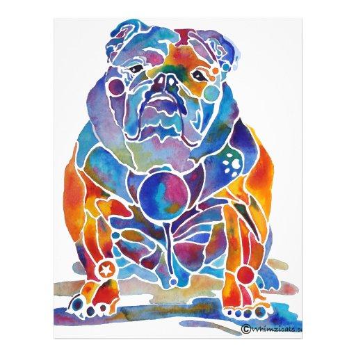 English Bulldog Personalized Flyer