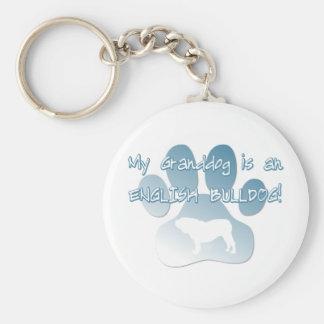 English Bulldog Granddog Keychain
