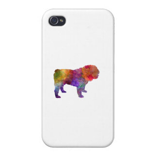 English Bulldog in watercolor Cases For iPhone 4