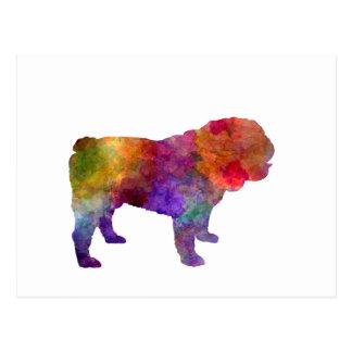 English Bulldog in watercolor Postcard