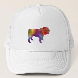 English Bulldog in watercolor Trucker Hat