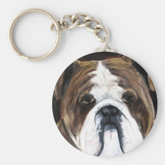 English bulldog Keychain