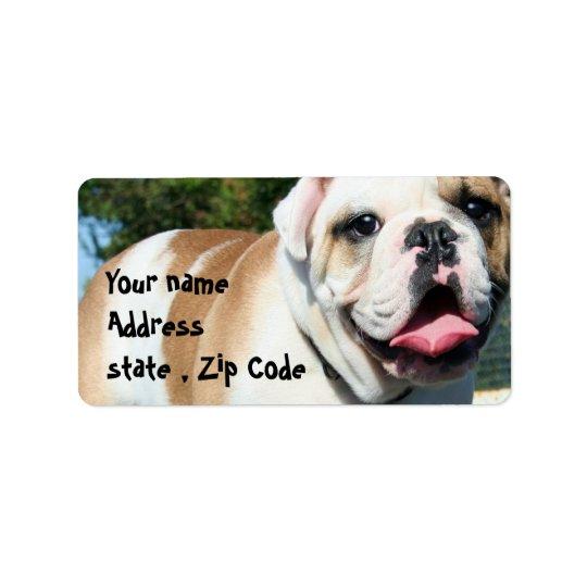 English bulldog label