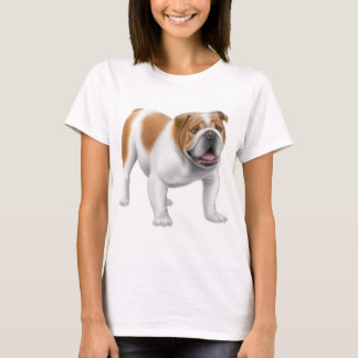 English Bulldog Ladies Baby Doll Shirt