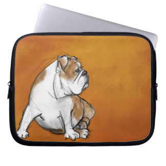English Bulldog Laptop Sleeves