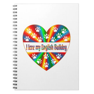 English Bulldog Love Note Book