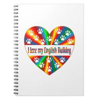English Bulldog Love Notebook