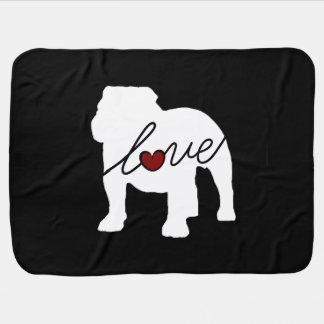 English Bulldog Loveq Baby Blanket