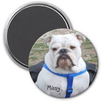 English Bulldog Missy Magnet