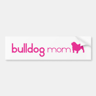 English Bulldog Mom Bumper Sticker