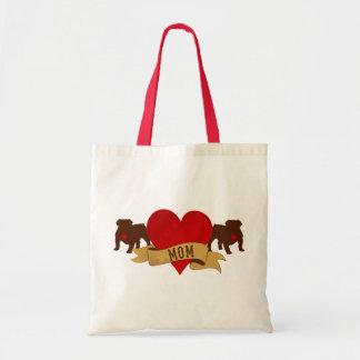 English Bulldog Mom [Tattoo style] Tote Bag
