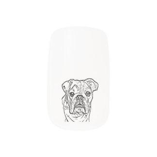 english bulldog nail minx nail art