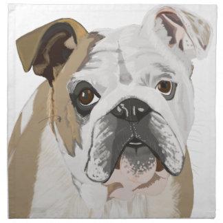 English Bulldog Napkin