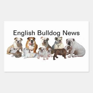 English Bulldog News Sticker