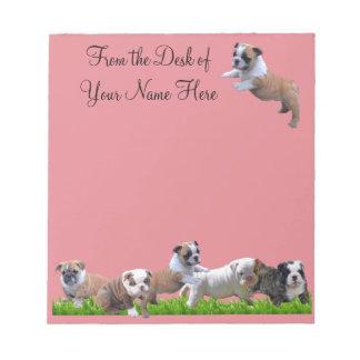 English Bulldog Notepad