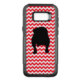English Bulldog on Fire Truck Red Chevron OtterBox Commuter Samsung Galaxy S8+ Case
