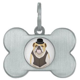 English Bulldog Pet ID Tag