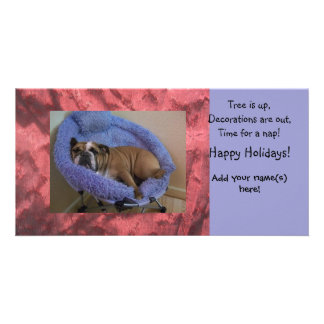 English Bulldog Photo Christmas Holiday Cards