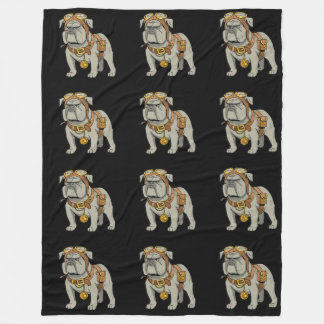 EnGLISH BULLDOG PILOT Fleece Blanket