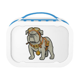 ENGLISH BULLDOG PILOT LUNCH BOX