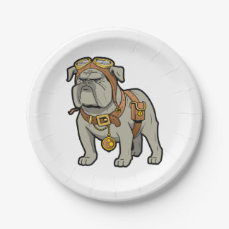 English BULLDOG PILOT Paper Plate