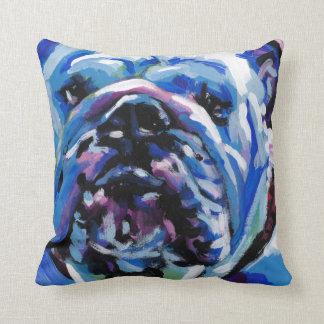 English Bulldog Pop Art Throw Pillow