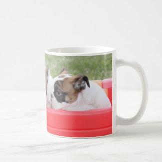English Bulldog Puppies in a Wagon Coffee Mug