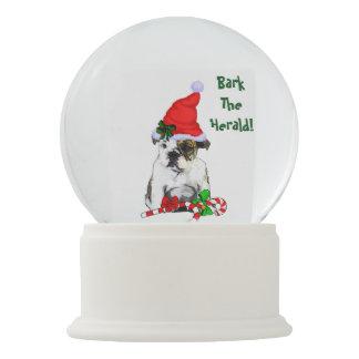English Bulldog Puppy Christmas Snow Globe