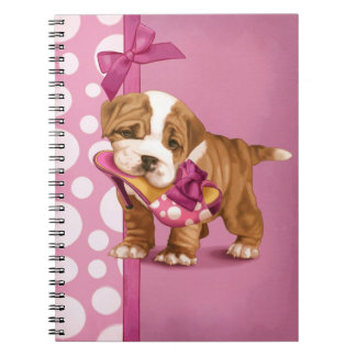 English Bulldog Puppy Notebook