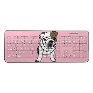 English Bulldog Puppy Wireless Keyboard