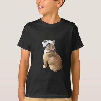English bulldog puppy with heart design CUSTOMIZE T-Shirt