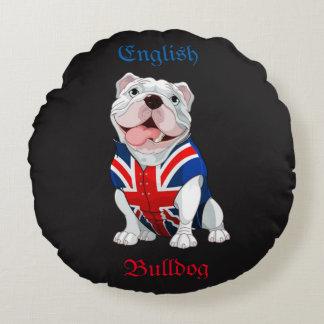 English Bulldog Round Pillow