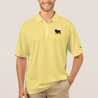 English Bulldog Silhouette Polo Shirt