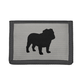 English Bulldog Silhouette Tri-fold Wallet