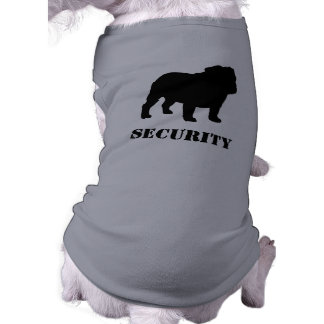 English Bulldog Silhouette with Customizable Text Pet T-shirt