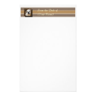 English Bulldog Stationary - From the Desk of ... Customized Stationery