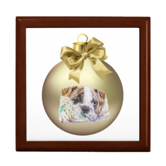 English Bulldog Trinket Box