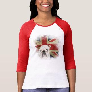 English Bulldog Union Jack 3/4 sleeve t-shirt