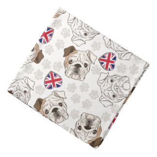 English Bulldog & Union Jack Bandanna