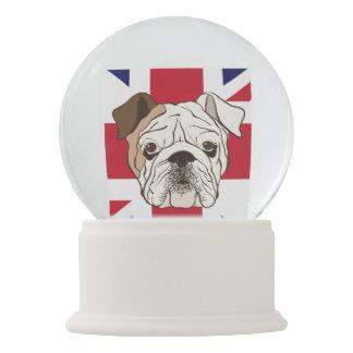 English Bulldog & Union Jack Snowglobe