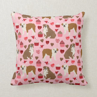 English Bulldog Valentines Love pillow