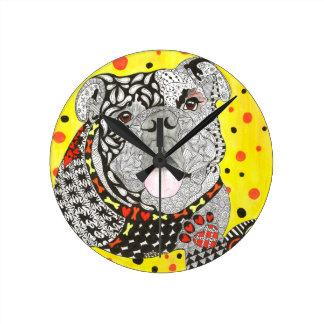 English Bulldog Wall Clock (You can Customize)