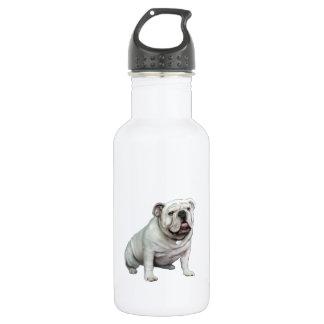 English Bulldog - White 1 532 Ml Water Bottle