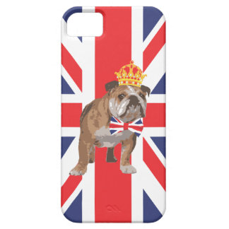 English Bulldog with Crown and Union Jack  Bow Tie iPhone 5 Covers